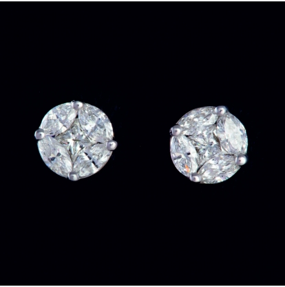 """Серьги """"Гвоздики"""" с бриллиантами"""