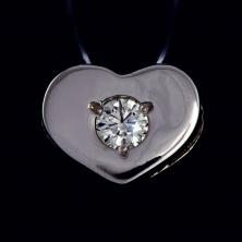 "Подвеска ""Сердце"" с бриллиантами"