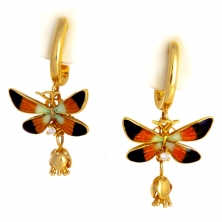 """Серьги """"Бабочки"""" с бриллиантами"""