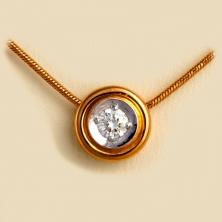 Колье-бегунок с бриллиантами