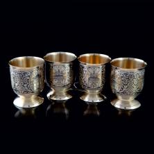 Рюмки серебряные