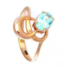 Кольцо с голубым топазом