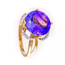 Кольцо с аметистом и бриллиантами